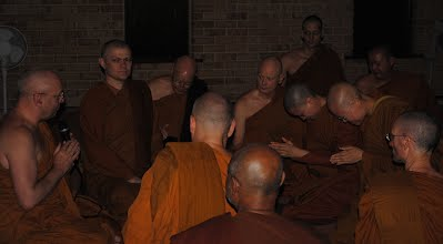 New Bhikkhunis Receiving Confirmation of Ordination from Bodhinyana Bhikkhu Sangha